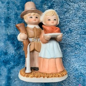 Vintage Thanksgiving Lefton Pilgrim Couple #00374